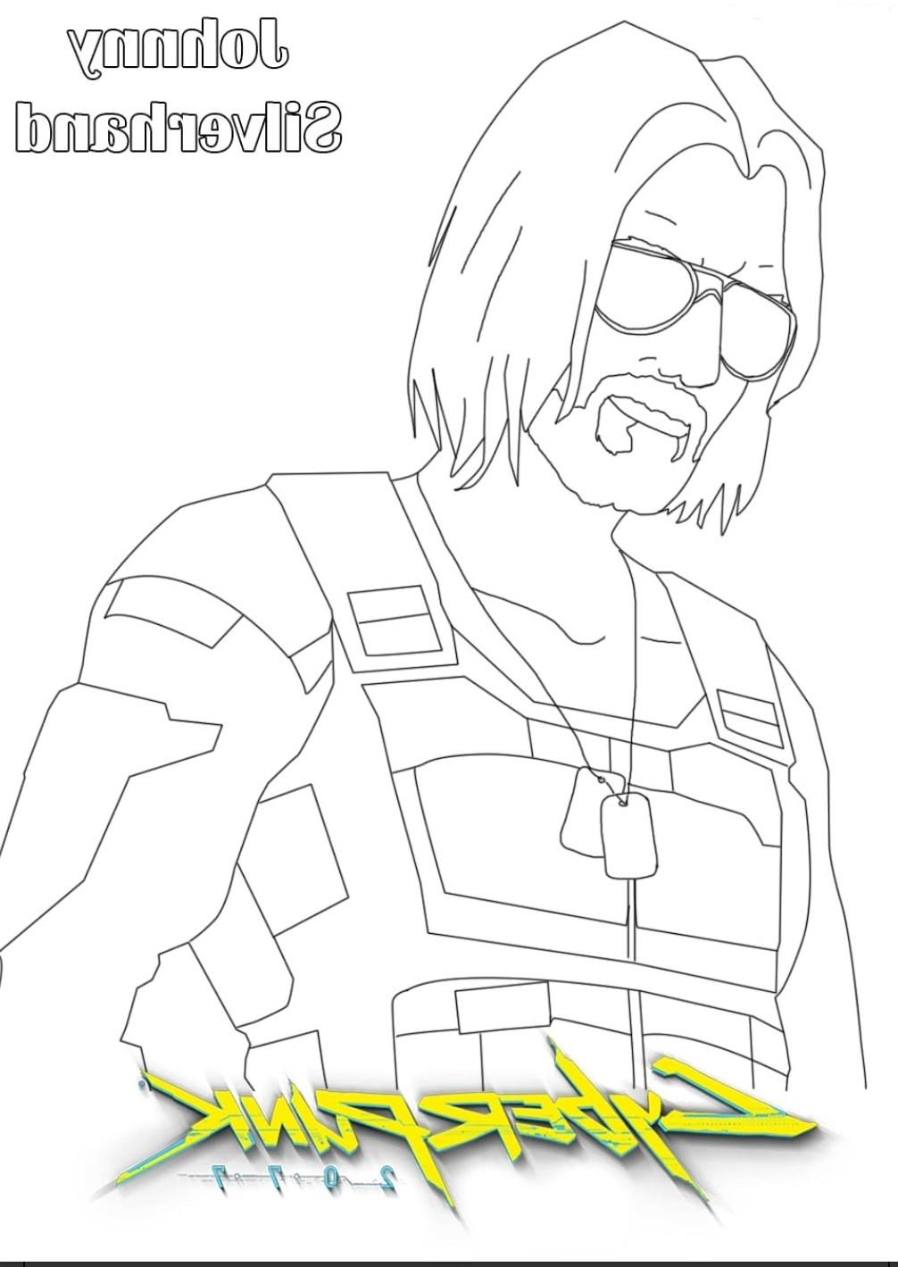 John Silverhand z Cyberpunk 2077 kolorowanka do druku
